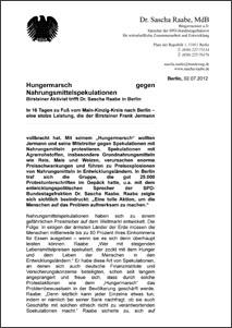 Pressemitteilung Sascha Raabe, MdB
