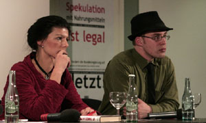Sahra Wagenknecht bei Occupy:Frankfurt