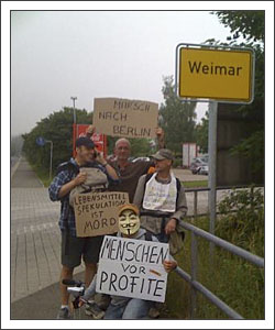Occupy:Occupy: Hungermarsch — in Weimar