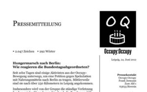 Pressemitteilung von Occupy:Occupy (24.6.2012)