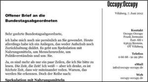 Occupy:Occupy: Hungermarsch nach Berlin