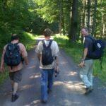 Auf dem Marsch nach Gotha. Jörg von KommPottPora e. V. (links) zeigte uns den Weg.