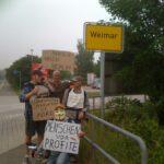 Ankunft in Weimar: Stefan aus Bremerhaven (links) war heute ebenfalls dabei.