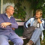 Kurzlipsdorf: Herbert Noffke lädt uns in seinem Kleingarten zum Bier ein. Es ist das erste mal in 13 Tagen, dass jemand etwas spontan übrig hat für uns Hungermarschierer. Besten Dank, Herr Noffke!
