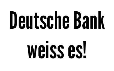 Deutsche Bank weiss um schädliche Folgen der Nahrungsmittelspekulation