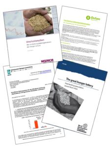 Publikationen zum Thema Spekulation mit Nahrungsmitteln
